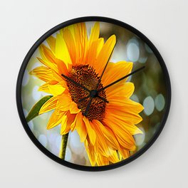 Radiant Sunflower Wall Clock