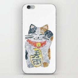 Watercolor Maneki Neko / Lucky Cat iPhone Skin