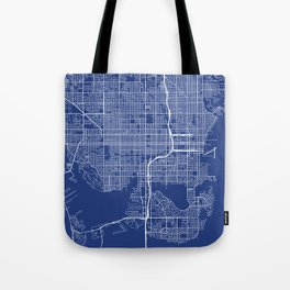 St Petersburg Map, USA - Blue Tote Bag