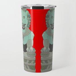 Lion Statues Travel Mug