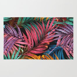Colorful Palm Leaves Rug