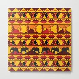 African Tribal Pattern No. 34 Metal Print