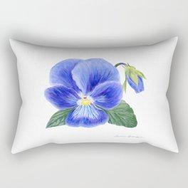 Purple Pansy by Teresa Thompson Rectangular Pillow