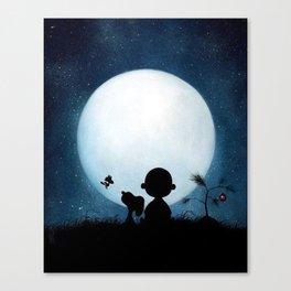 Snoopy Charlie nightmare Canvas Print