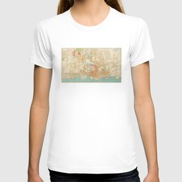Vintage Map of Yonkers NY (1893) T-shirt