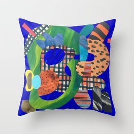 Blue Hat Throw Pillow
