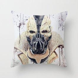 Bane Skull Throw Pillow