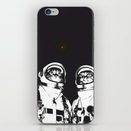 astronaut cats iPhone Skin