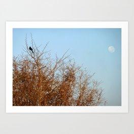 Bird & Moon Art Print