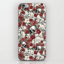 Skulls and Roses or Les Fleurs du Mal iPhone Skin