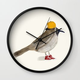 little brown creeper Wall Clock