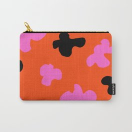 Grell 003 / A Dazzling 70's Pattern Of Black & Pink Spots Carry-All Pouch