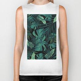 Tropical Jungle Night Leaves Pattern #1 #tropical #decor #art #society6 Biker Tank