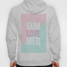 Pastel Candy 'SUMMER LOVE' - Pink & Turquoise Hoody