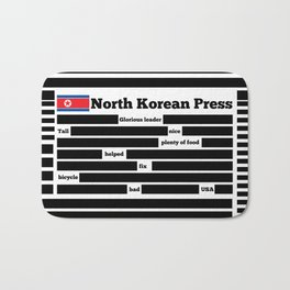 North Korea News Paper Bath Mat