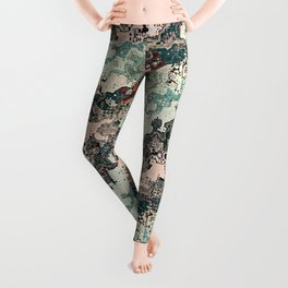 Colorful Textures Pattern 1 Leggings