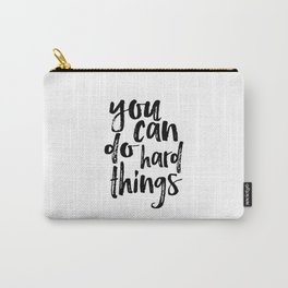Printable Art you can do hard things gallery wall Inspirational Quote Wall Art Gift Idea Nursery Carry-All Pouch