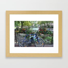 Lac D'anney bicycles  Framed Art Print