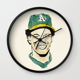 """Rickey """"The Man of Steal"""" Henderson Wall Clock"""
