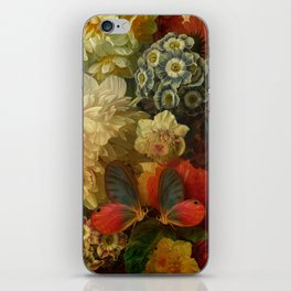 """""""Baroque Spring of Flowers and Butterflies"""" iPhone Skin"""