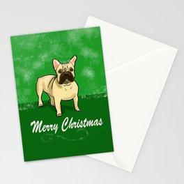 Happy French Bulldog Christmas Stationery Cards