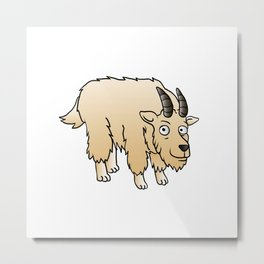 Mountain Goat Mascot Metal Print