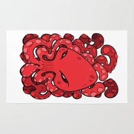 Octopus Squid Kraken Cthulhu Sea Creature - Cherry Tomato Rug