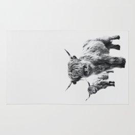 HIGHLAND COW - LULU & SARA Rug