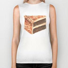 Chocolate Cake Slice Biker Tank