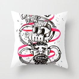 Wretch skeleton Throw Pillow