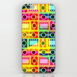 Colorful camera pattern iPhone Skin