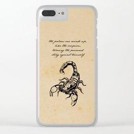 Friedrich Nietzsche - The Scorpion Clear iPhone Case