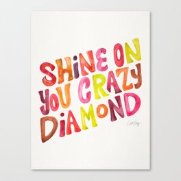 Shine On You Crazy Diamond – Rainbow Palette Canvas Print