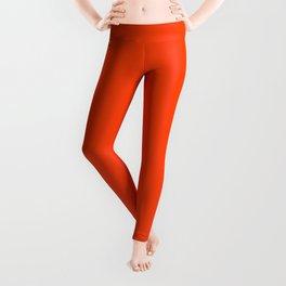 Bright Fluorescent Neon Orange Leggings