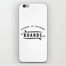 Home is where my boars are iPhone Skin