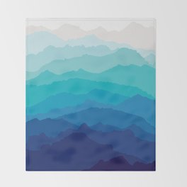 Blue Mist Mountains Throw Blanket