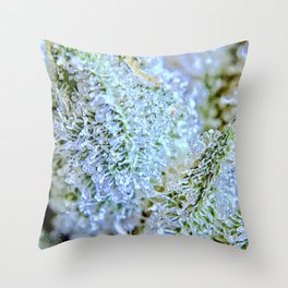 Blanket of Trichomes Throw Pillow