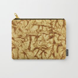 Gold Waves and Ripples Textured Wavelet Paint Art Carry-All Pouch