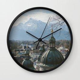 Salzburg Austria View Wall Clock