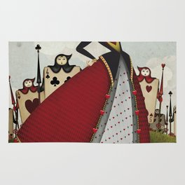 Off with their heads Queen of hearts from Alice in Wonderland Rug
