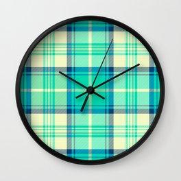 Turquoise Tartan Wall Clock