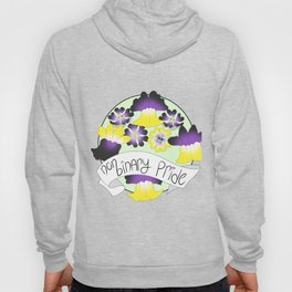 Non-Binary Pride Flowers Hoody