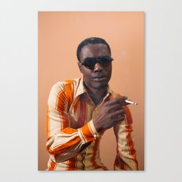 70's Smoker Canvas Print