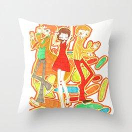 70s Disco Fever Throw Pillow