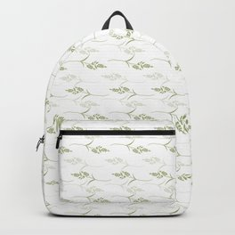 Decorative Pattern with Grass in Lime Green and White Backpack