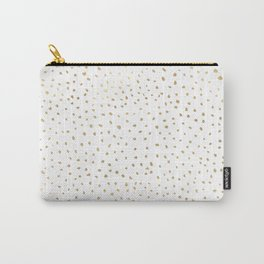 Dotted Gold Carry-All Pouch