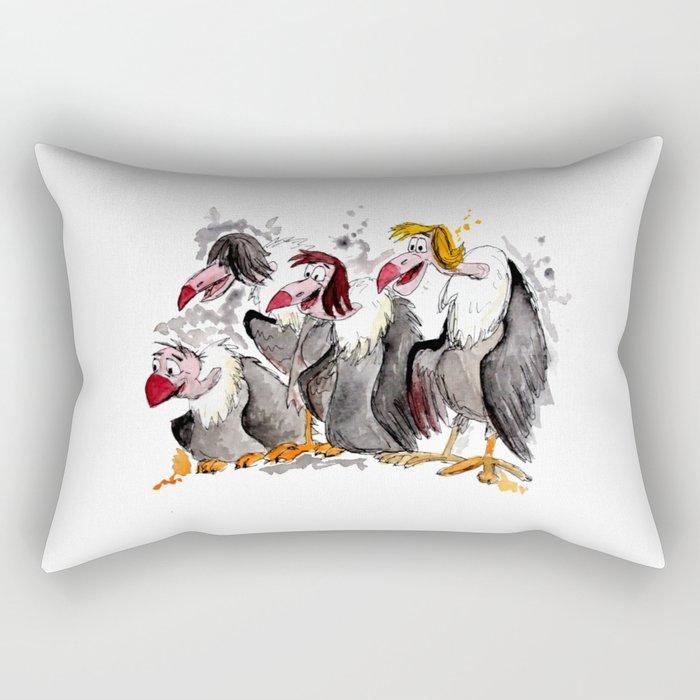 jungle book vultures rectangular pillow by ferntasticart society6