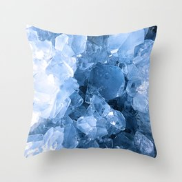 Celestite Blue Throw Pillow