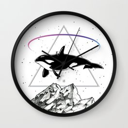 Trip to the Mountains Wall Clock