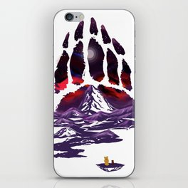 A Paw for a Full Moon iPhone Skin